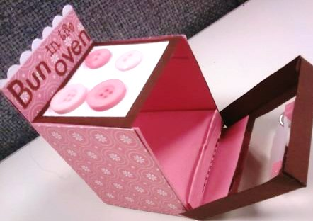 Baby Shower Favor Box - open